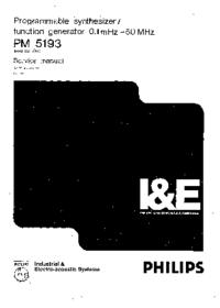 Servicehandboek Philips PM5193