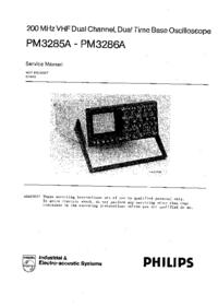 Manuale di servizio Philips PM3285A