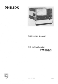 Serwis i User Manual Philips PM2554