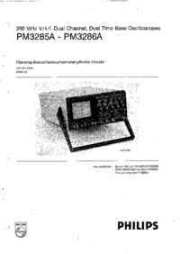 User Manual Philips PM3285A