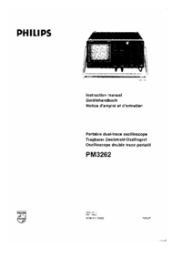 Serwis i User Manual Philips PM3262