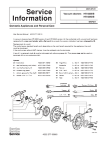 Service Manual Supplement Philips HR 6839/B