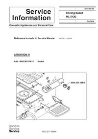 Dodatek Instrukcja Serwisowa Philips HL 5420