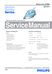 Service Manual Philips GC1015