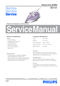 Manual de servicio Philips GC1121