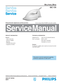 Service Manual Philips Diva GC 135