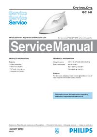 Руководство по техническому обслуживанию Philips Diva GC 141