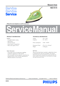 Manual de servicio Philips GC1515