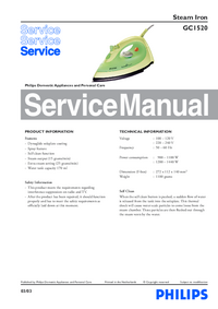 Manual de serviço Philips GC1520