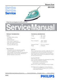 Manual de servicio Philips GC1530