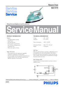 Service Manual Philips GC1575