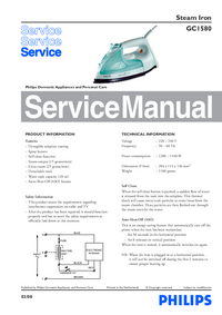 Servicehandboek Philips GC1580
