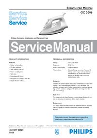 Руководство по техническому обслуживанию Philips Mistral GC 2006