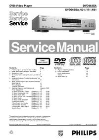 Руководство по техническому обслуживанию Philips DVD963SA