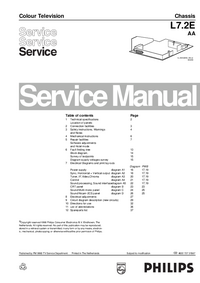 Manual de servicio Philips L7.2E