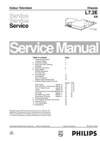 Manual de serviço Philips L7.2E