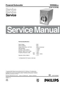 Instrukcja serwisowa Philips SW968
