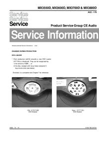 Service Manual Supplement Philips MX3700D