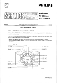 Manuale di servizio Supplemento Philips PM3262