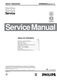 Service Manual Philips SW8000SA 00S