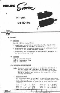 Instrukcja serwisowa Philips GM 3121 /01