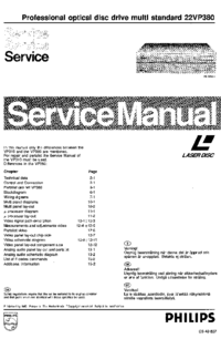 Manual de servicio Philips 22VP380