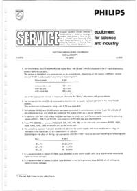 Serviço Manual Supplement Philips PM3260