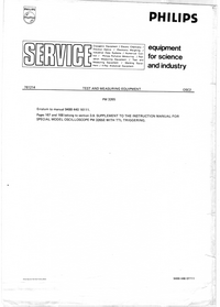 Service Manual Supplement Philips PM3265