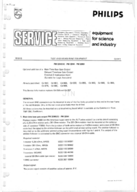 Service Manual Supplement Philips PM3240 X