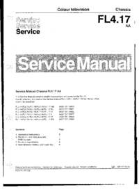 Service Manual Supplement Philips FL4.17 AA
