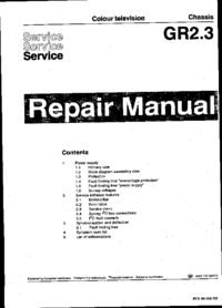 Manual de servicio Philips GR2.3