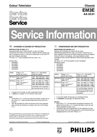 Manuale di servizio Supplemento Philips 28PW8807