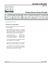 Service Manual Supplement Philips MX1050D