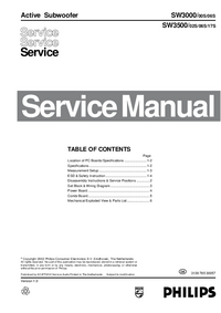 Service Manual Philips SW3000