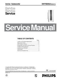 Service Manual Philips SW7000SA