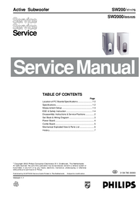 Service Manual Philips SW2000/00S