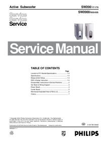 Manuale di servizio Philips SW2000/02S