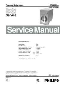 Manual de servicio Philips SW988/00S