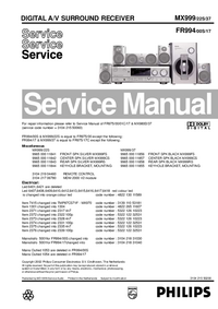 Service Manual Philips MX999/22S