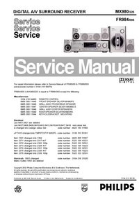 Manual de servicio Philips FR984/00S