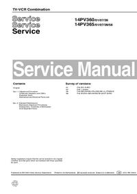 Instrukcja serwisowa Philips 14PV365