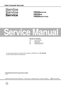 Manual de servicio Philips VR330
