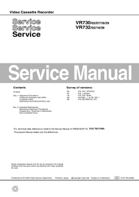 Manuale di servizio Philips VR730