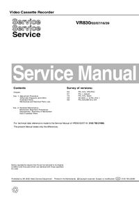 Service Manual Philips VR830