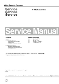 Service Manual Philips VR130