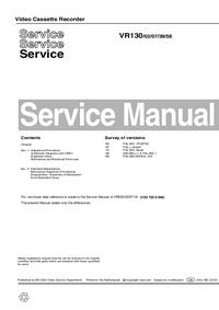 Manuale di servizio Philips VR130