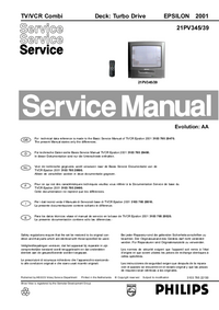 Service Manual Supplement Philips EPSILON 2001 21PV345/39