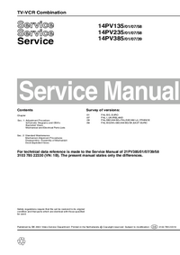 Manuale di servizio Supplemento Philips 14PV135 /01/07/58