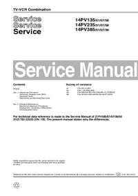 Руководство по техническому обслуживанию дополнения Philips 14PV235 /01/07/58