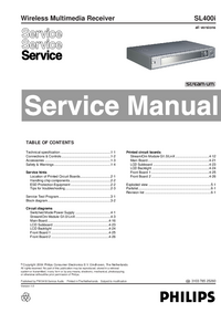 Руководство по техническому обслуживанию Philips SL400i